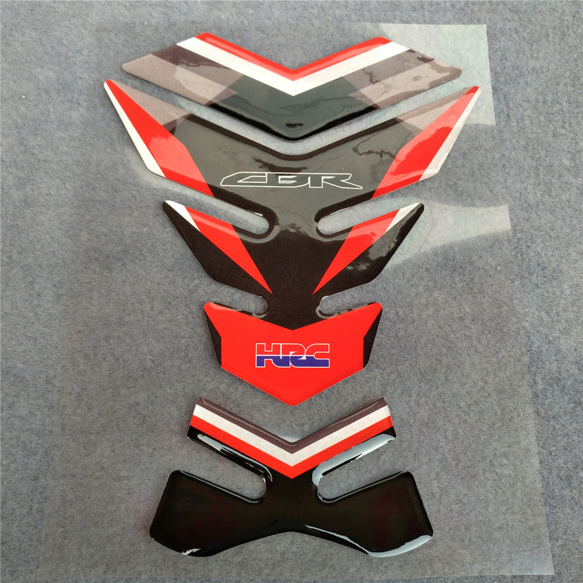Motorcycle For Honda Fish Bone Fuel Tank Pad Tank Cap Cover Motorbike 3D Resin Protector Decal Sticker CBR600 CBR1000 CBR 600 image
