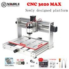 Cnc 3020 pro max grbl controle 200w 3 eixos diy pcb fresadora de madeira roteador suporte gravação a laser