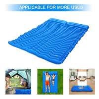 TOMSHOO Inflatable Mat Camping Mat Outdoor With Pillow Ultra light Portable Mattress Double Sleeping Pad Moisture proof Pad