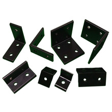 4pcs/lot 2020 2040 L Shape Black Corner Brackets Fitting Angle Aluminum 3030 3060 4040 4080 Connector for Aluminium Profile