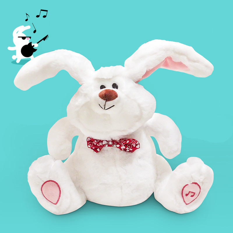 Crazy Sway Rabbit Doll Singing Dancing Dump Ear Electric Story Machine With Music Plush Toys