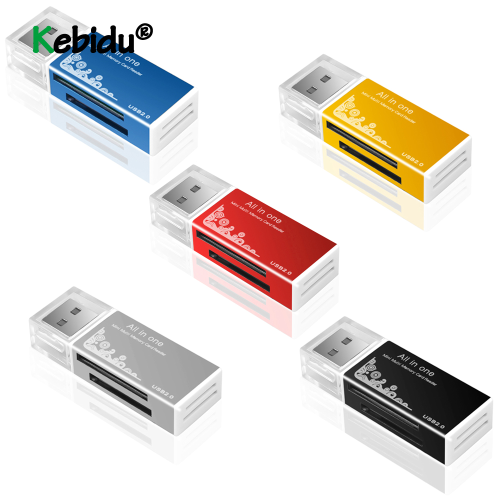 USB Adapter USB 2.0 All In 1 Multi Memory Card Reader Adapter For Micro SD SDHC TF M2 MMC