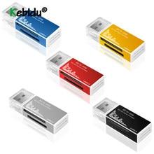 Adaptador usb 2.0 tudo em 1 multi leitor de cartão de memória adaptador para micro sd sdhc tf m2 mmc