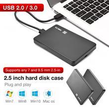2,5-дюймовый корпус жесткого диска Sata для USB3.0/2,0 жесткого диска адаптер 5 Гбит/с коробка поддерживает связь с 2-мя ТБ для WIndows и Mac OS 2,5 дюймов жесткий диск HDD