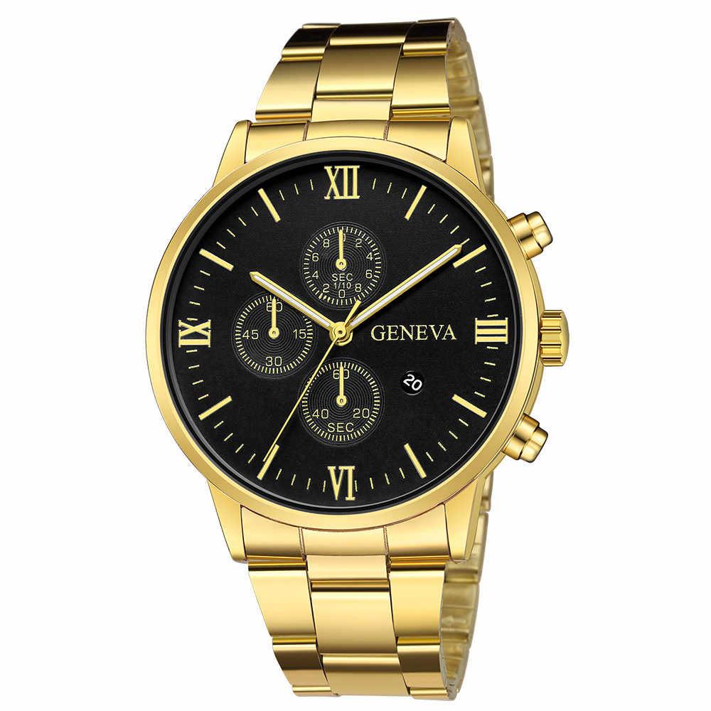 Relógio de pulso masculino masculino relógio de pulso masculino relógio de quartzo masculino relógio de pulso masculino do esporte do ouro