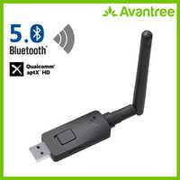 Avantree Aptx-Hd Long Range Usb Bluetooth 5.0 Adattatore Trasmettitore Audio per Pc Del Computer Portatile, aptx Bassa Latenza Adattatore Audio Senza Fili
