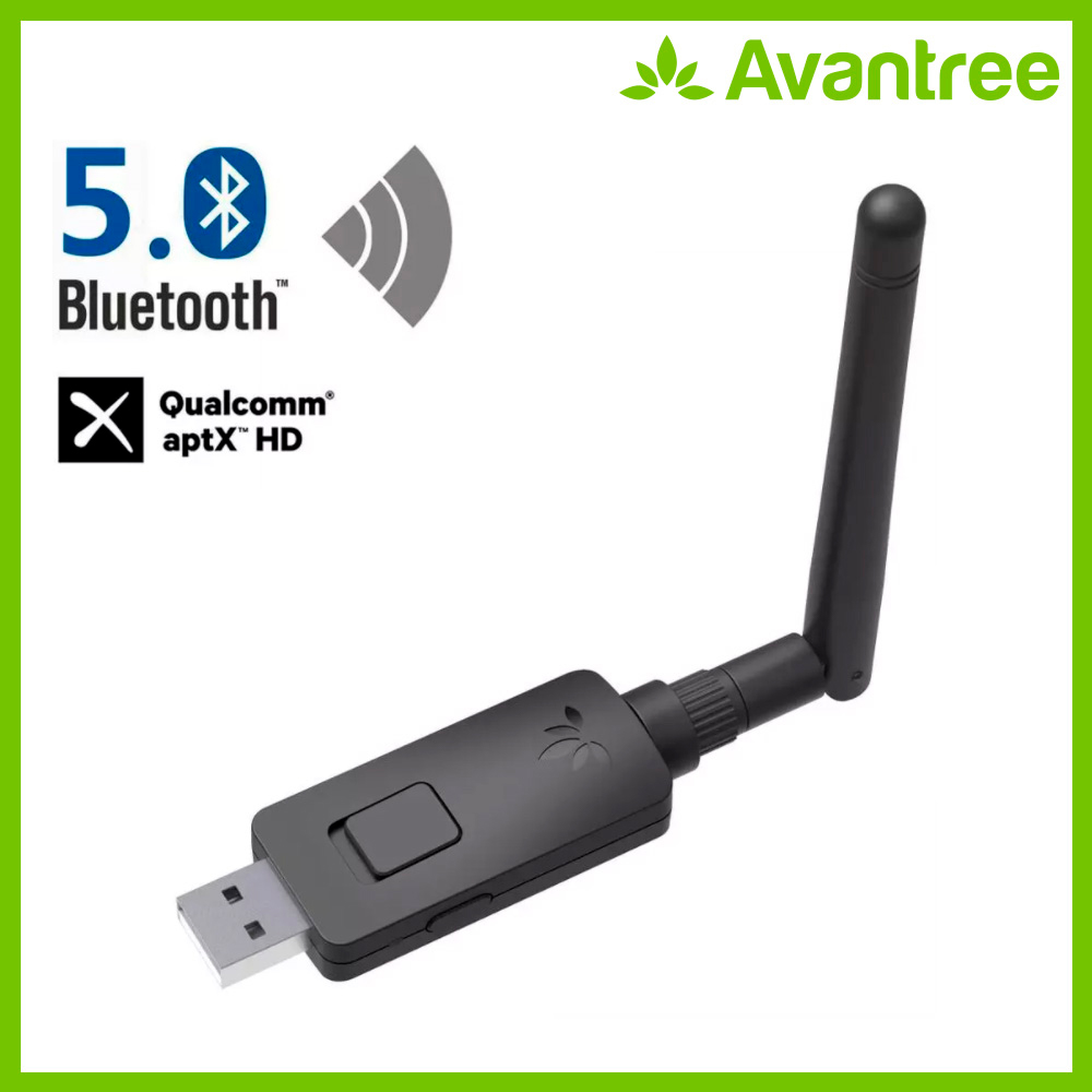 Avantree aptX-HD Long Range USB Bluetooth 5.0 Audio Transmitter Adapter for PC Laptop,aptX Low Latency Wireless Audio Adapter