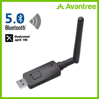 Avantree aptX HD Long Range USB Bluetooth 5.0 Audio Transmitter Adapter for PC Laptop,aptX Low Latency Wireless Audio Adapter