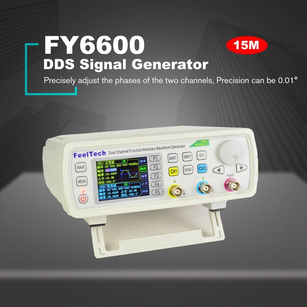 Цифровой двухканальный генератор сигналов FellTech, 15 МГц, с функцией DDS, Частотный измеритель, произвольный, лидер продаж в США