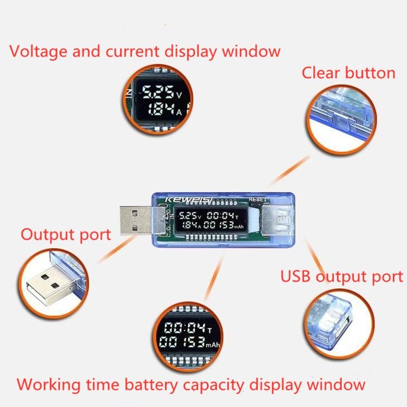 حار شاحن يو اس بي 3 في 1 المحمول كاشف الطاقة تيار مستمر الفولتميتر الرقمية الجهد الحالي متر جهاز اختبار بطارية أدوات قياس