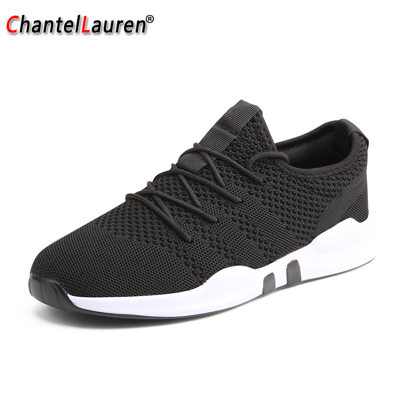 Men Running Shoes Sneakers Outdoor Sport Shoes Comfortable Male Athletic Trainers Footwear Breathable Walking Shoes Black White