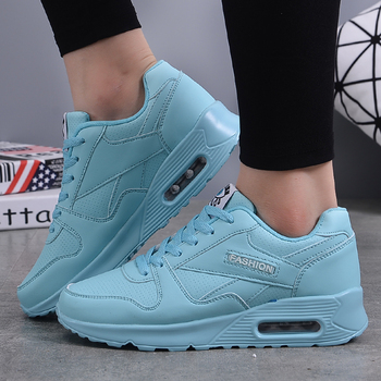 Women Trainers Running Shoes PU Leather White Fashion Sneakers 2019 Sneakers Ladies Outdoor Sport Shoes Breathable Air Cushion 1