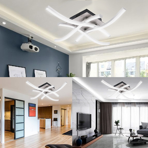 Image 3 - 18W 24W LED Ceiling Light AC 85 265V Curved Design Kitchen Living Room Bedroom Lamps Modern Indoor Decoration Home Lighting