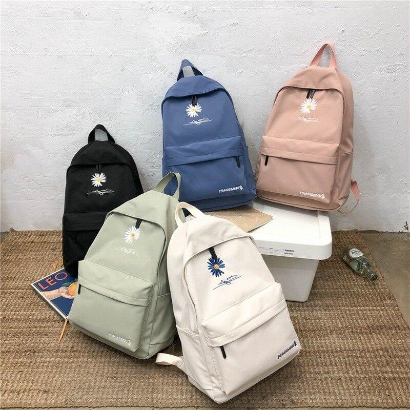 Top SaleWomen Backpack School Bags for Teenage Girls Cute Printed Flowers Bagpack Teen Middle High School Student Back Pack Nylon New