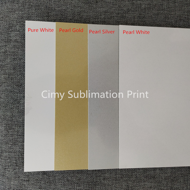 20sheets 0.5mm A5 Blank Sublimation Metal Plate Aluminium Sheet Name Card Printing Sublimation Ink Transfer DIY Craft