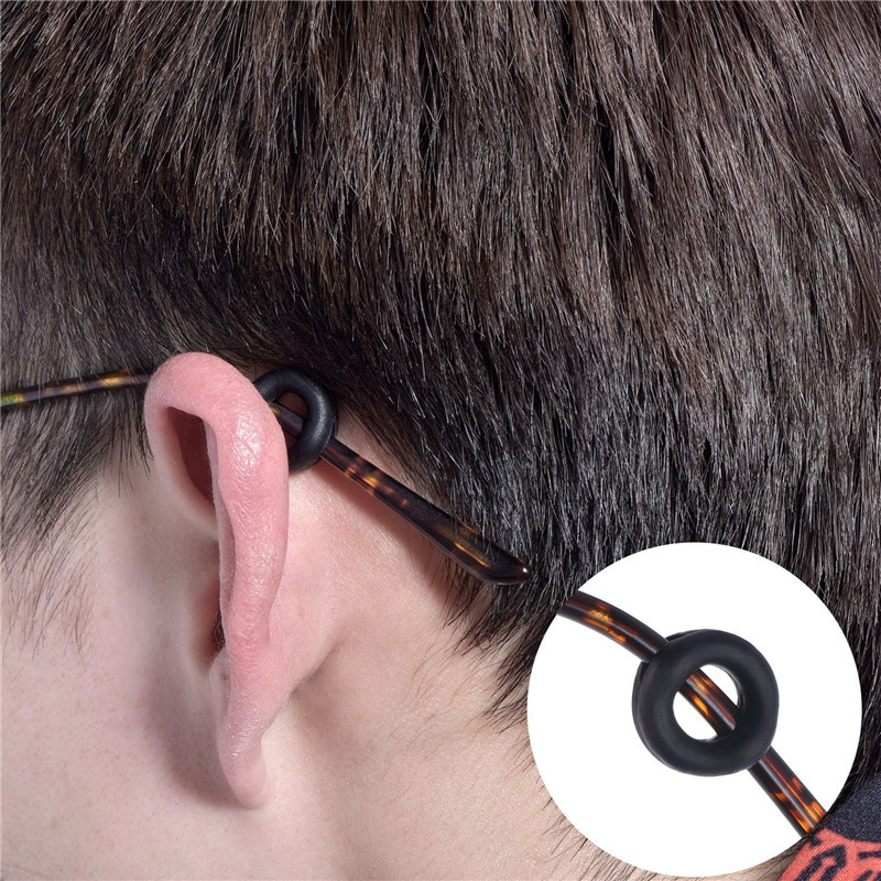 Eyeglass Temple Tips Sleeve Retainer Silicone Anti-slip Holder Elastic Comfort Glasses Ear Hook Mirror Leg Glasses Accessories