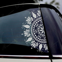 Beautiful Mandala Car Decor Decals Vinyl Window Sticker Lotus Flower Decoratiove Ormanent Removable Murals 4386