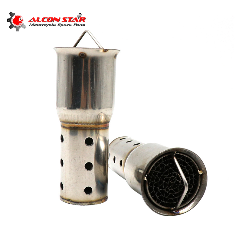 Alconstar  Motorcycle Exhaust Pipe Silencer Catalyst DB Killer Motorbike Exhaust Muffler Noise Sound Eliminator 51mm 61mm Inner|Exhaust & Exhaust Systems| |  - title=