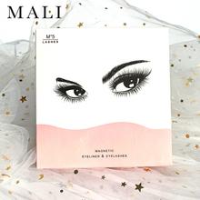 Magnetyczne rzęsy Eyeliner zalotka 5 zestaw magnes naturalne długie magnetyczne sztuczne rzęsy z magnetycznym Eyeliner zestaw pincet tanie tanio Malishangpin