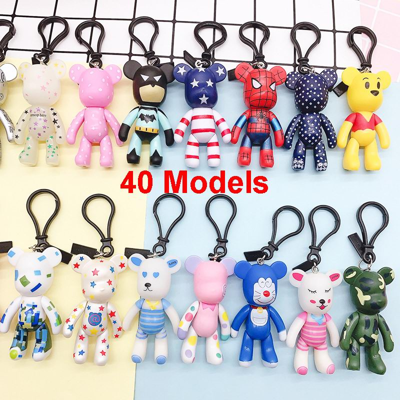Bomgom Cartoon Popobe Gloomy Bear Teddy Bear Cute Keychain Car Key Holder Bag Charm Resin Key Chain Key Ring Pendant Kids Toy