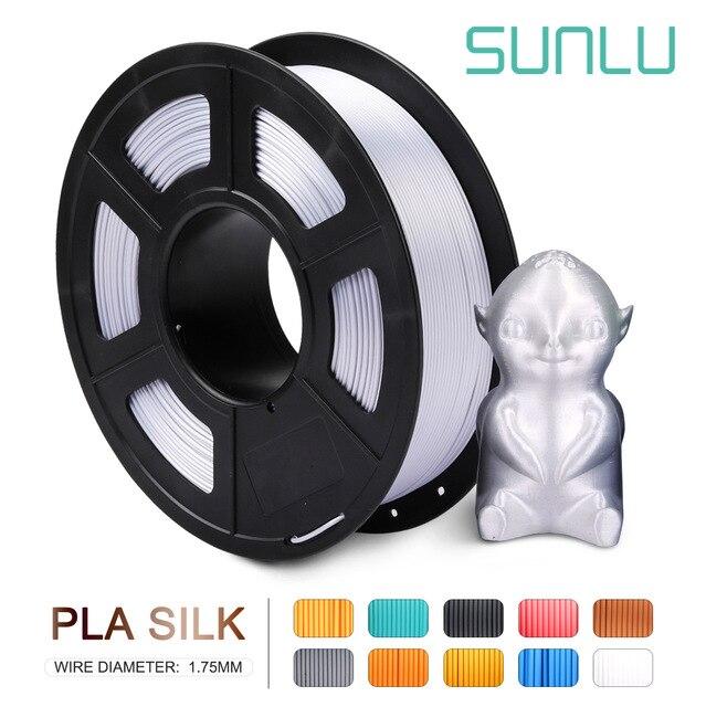 Нить для 3D принтера SUNLU 1,75 шелк, 1 кг шелковая нить для 3D принтера, шелковая текстура, материалы для 3d-печати, быстрая доставка