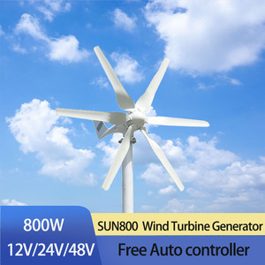 FLTXNY 3 phase DC 12v 24v 800w Horizontal Wind turbine with 12V 24V Auto Charge controller for home boat streetlight roof(China)