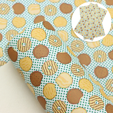 20*33cm Planet Dount Smooth Faux Leather Fabric Sheet Vinyl Leatherette Clothing Upholstery DIY Earrings Hair Bows,1Yc12138
