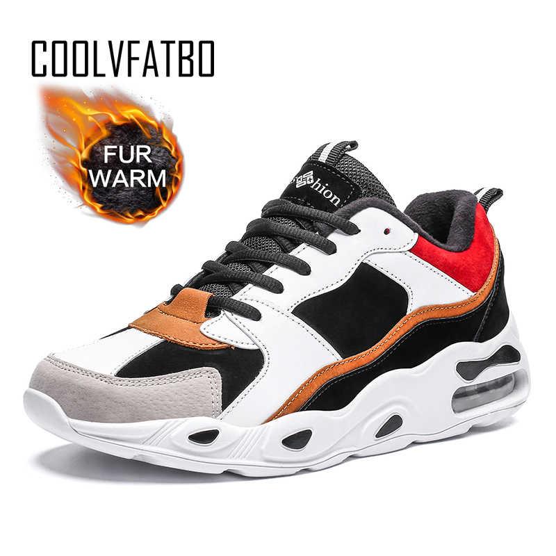 COOLVFATBO Men Casual รองเท้า Breathable รองเท้าผ้าใบผู้ชายตกแต่งเบาะตาข่ายรองเท้าแนวโน้มรองเท้า Zapatillas Hombre