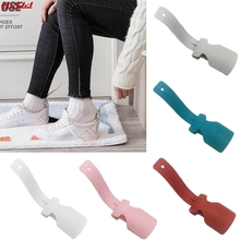 1 2 sztuk leniwy Unisex nosić łyżka do butów pomocnik łyżka do butów do butów łatwe zakładanie i zdejmowanie butów solidny poślizgu pomocy tanie tanio RUBBER 17 5*5*2 5CM