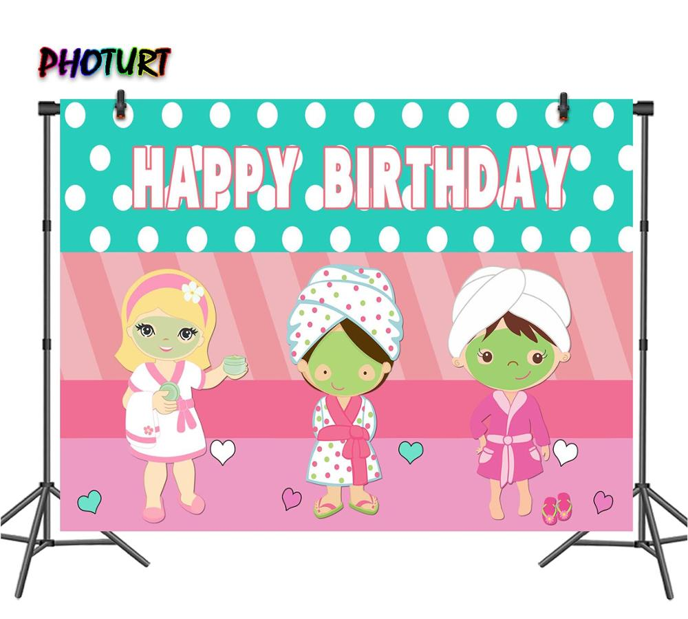 Zhy SPA Party Photography Backdrop 7X5FT Pink Beauty Salon Photo Background Photo Studio Booth Props 23