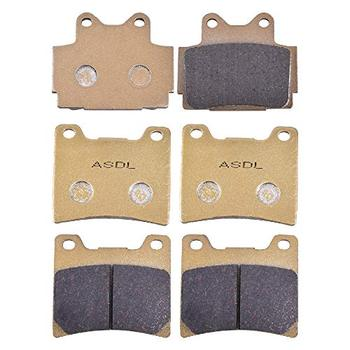 Motorcycle Front and Rear Brake Pads Set for Yamaha RD500 RD 500 RD500LC 84-86 FZ600 FZ 600 FZ600 87-88 image