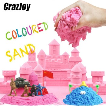 100g Magic Color Kinetic Sand Toy Soft Clay Slime Educational Colored Super Space Sand Supplies Antistress Kids Toy For Children 100g bag magic dynamic sand toys clay super colored soft slime space play sand antistress supplies educational toys for kids