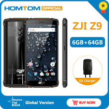 Global Version HOMTOM ZJI Z9 Helio P23 IP68 Waterproof 4G LTE Smartphone 5.7 inch 6GB + 64GB ROM 5500mAh Full Bands Mobile Phone
