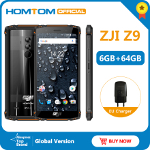 Global Version HOMTOM ZJI Z9 Helio P23 IP68 Waterproof 4G LTE Smartphone 5.7 inch 6GB + 64GB ROM 550