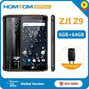 Image 1 - הגלובלי גרסה HOMTOM מכירה Z9 Helio P23 IP68 עמיד למים 4G LTE Smartphone 5.7 אינץ 6GB + 64GB ROM 5500mAh מלא להקות נייד טלפון