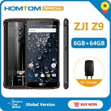 Versão global homtom zji z9 helio p23 ip68 à prova dip68 água 4g lte smartphone 5.7 polegada 6 gb + 64 gb rom 5500 mah faixas completas do telefone móvel