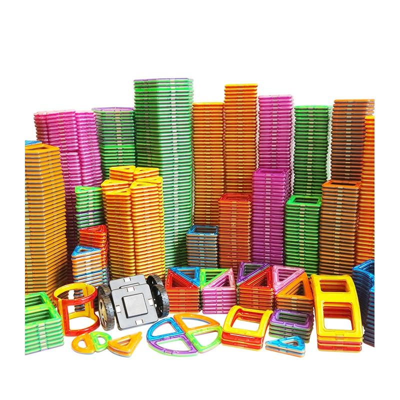 Accesorios de bloques de construcción magnéticos de diseñador magnético, tamaño grande, juguetes educativos de Constructor para niños