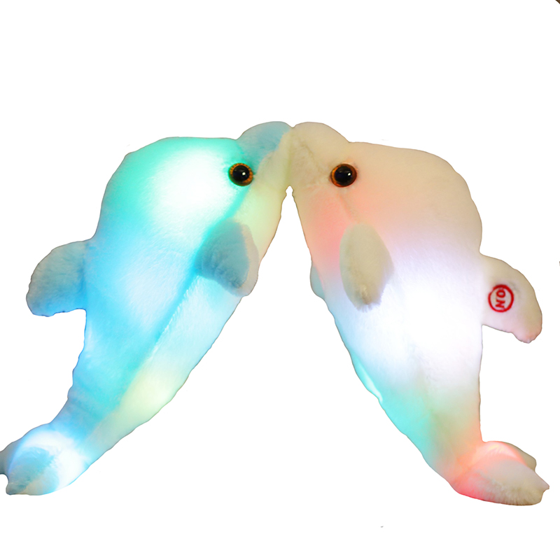 Image 5 - 32cm Creative Luminous Plush Dolphin Doll Glowing Pillow, Colorful LED Light  Animal Toys Kids Children's Gift YYT220-in Stuffed & Plush Animals from Toys & Hobbies