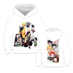 Kimetsu no Yaiba Demon Slayer Clothes Girls Hoodies Japan Harajuku Anime Girls Sweatshirts Teenager Hoodies Girls Hooded Hoodies(China)
