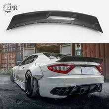 Carbon Fiber Wing Lip Trim For Maserati Gran Turismo XX Style Carbon Fiber Rear Spoiler Body Kit Tuning For Gran Turismo Racing игрушка motormax maserati gran turismo 73361