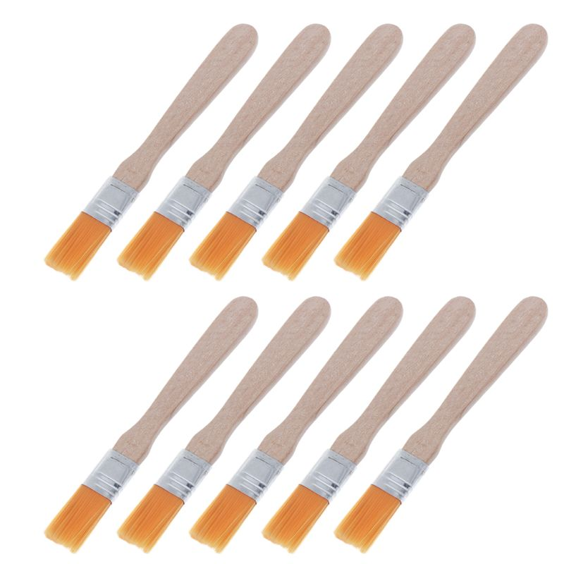10Pcs Wooden Handle Brush Nylon Bristles Welding Cleaning Tools For Solder Flux Paste Residue Keyboard