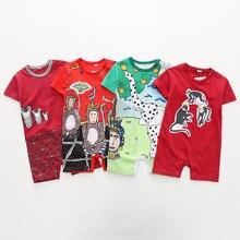 2020 cartoon Unisex Newborn Baby Clothes pure cotton Summer