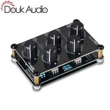 Douk Audio Tragbare 4 Kanal Linie Mixer für Live Studio Aufnahme Mini Stereo Audio Mixer Passive Live Studio Konsole Aufnahme