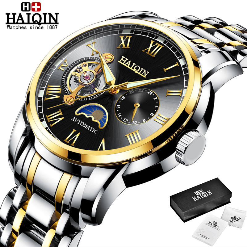 HAIQIN Mechanical watches mens automatic wrist watch for mens watches top brand luxury watch men Tourbillon relojes hombre 2020 12