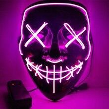 Хэллоуин СВЕТОДИОДНЫЙ маска светящиеся Вечерние Маски очистки год проведения выборки большой забавный фестиваль Маски для костюмированной вечеринки светятся в темноте