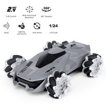 JJRC Q92 1:24 RC Stunt Car Remote Control Car 4WD 2.4G 360 Degree Rotation with LED Light and Music RC Car Models Toys for Kids