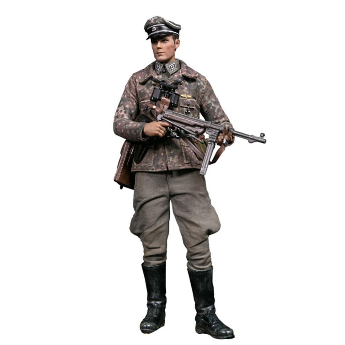 15 Cm 1/12 Action Figure Realistische Headsculpt Diy Handgemaakte Elite Wereldoorlog Ii Panzer Divisie Soldaat Model Educatief Speelgoed Gift