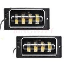 2 pçs alta qulity carros frente nevoeiro lâmpada impermeável 6000k led luzes de nevoeiro luz de passagem para lada 2110 -2117