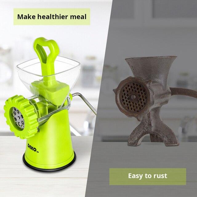 DEKO Manual Meat Grinder Multifunctional Vegetable Chopper Blender Mincer Enema Machine Household Kitchen Tools 2