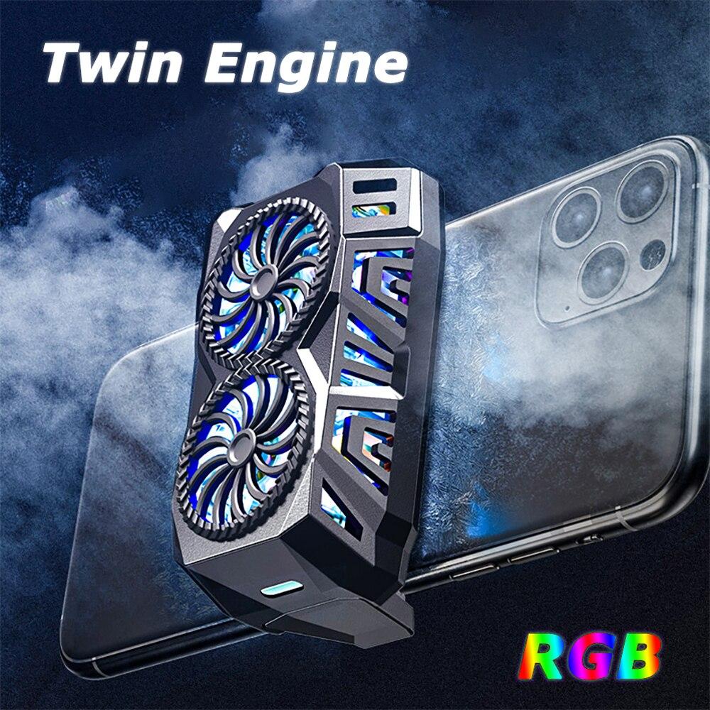 Универсальный мобильный телефон радиатор игровой телефон кулер регулируемый портативный вентилятор держатель теплоотвод для iPhone 11Pro XS Max ...